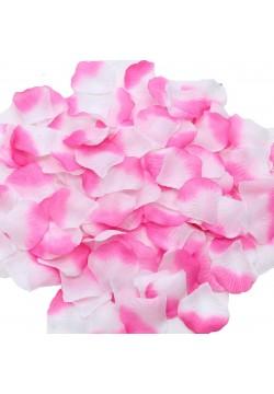Лепестки роз (300шт) розово-белые