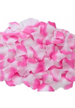 Лепестки роз (300шт) малиново-белые