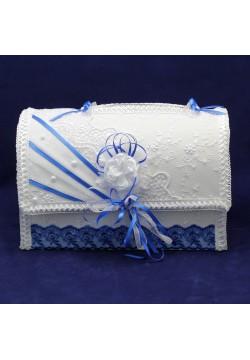 Сундук для денег «Сундучок» (бело-синий)