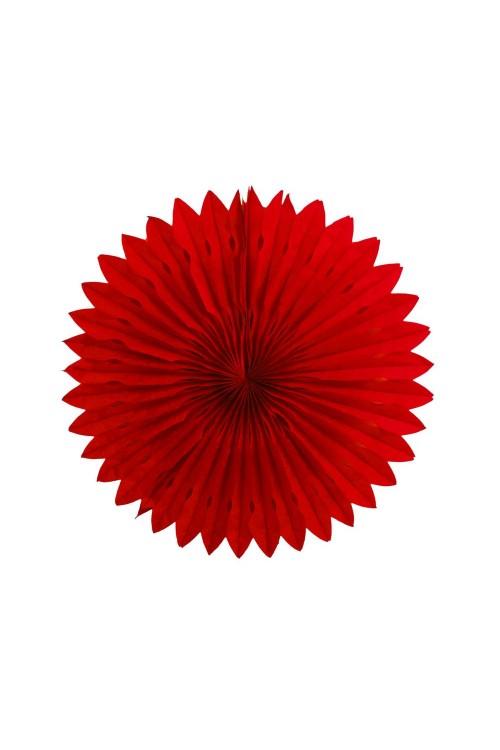 Фант бумажный резной 25см красный