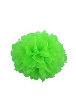 Помпон бумажный 20см зелёный