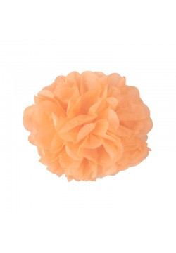 Помпон бумажный 20см персиковый