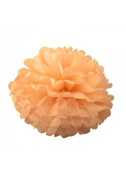 Помпон бумажный 25см персиковый
