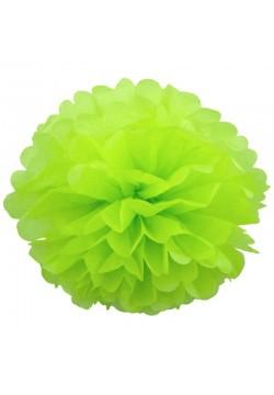 Помпон бумажный 35см салатовый