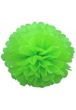 Помпон бумажный 35см зелёный
