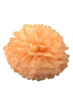 Помпон бумажный 35см персиковый