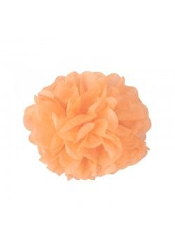 Помпон бумажный 15см персиковый