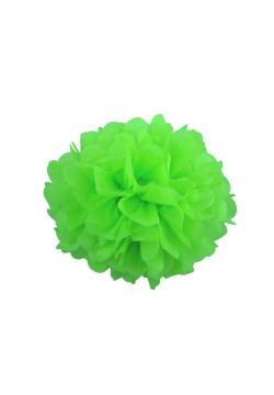 Помпон бумажный 15см зелёный