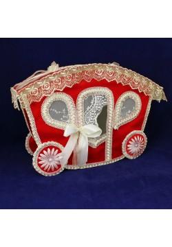 Сундук для денег «Карета» (красный)