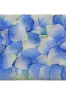 Лепестки роз (300шт) сине-белые