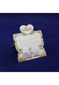 Банкетная карточка 65*60мм (фольга золото)