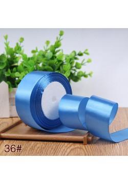 Лента в рулоне Атласная 4см (синий) 25ярдов