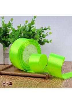 Лента в рулоне Атласная 4см (зелёный кислотный) 25ярдов