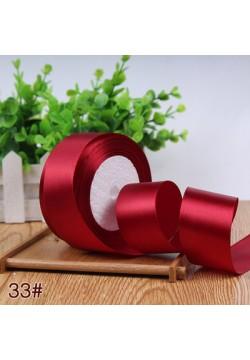 Лента в рулоне Атласная 4см (бордовый/марсала) 25ярдов