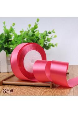 Лента в рулоне Атласная 4см (розовый арбузный) 25ярдов