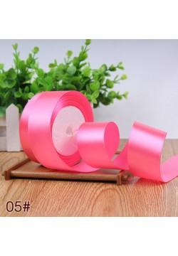 Лента в рулоне Атласная 4см (розовый яркий) 25ярдов