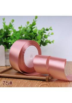Лента в рулоне Атласная 4см (пепельно-розовый) 25ярдов