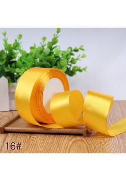 Лента в рулоне Атласная 4см (жёлтый) 25ярдов