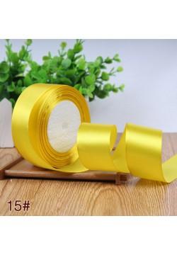 Лента в рулоне Атласная 4см (жёлтый лимон) 25ярдов