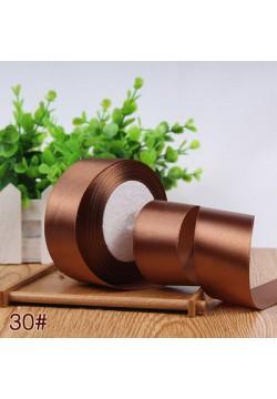 Лента в рулоне Атласная 4см (коричневый светлый) 25ярдов
