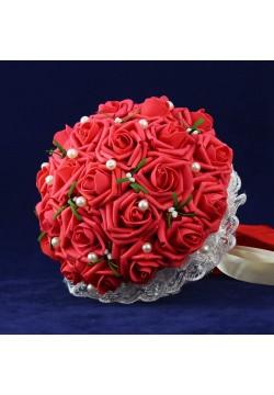Букет-дублёр Розы латекс 1, (красный)