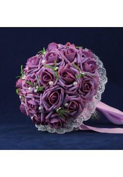 Букет-дублёр Розы латекс 1, (сиреневый)