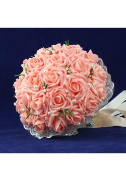 Букет-дублёр Розы латекс 1, (коралловый)