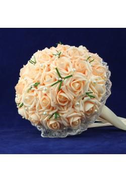 Букет-дублёр Розы латекс 1, (персиковый)