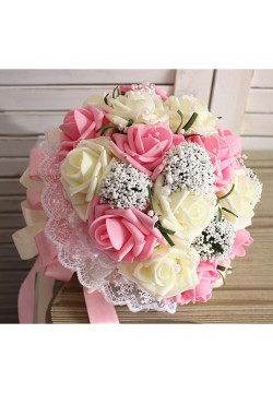 Букет-дублёр Розы латекс 3, (айвори-розовый)