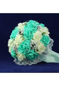 Букет-дублёр Розы латекс 3, (айвори-тиффани)