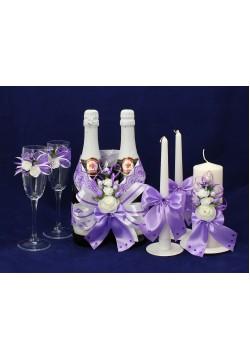 Комплект свадебный №67-2 сиреневый