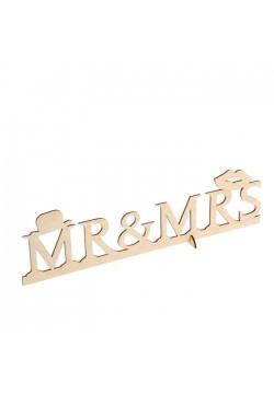"""Надпись для фото """"Mr&Ms"""" 39,5*10см (дерево)"""