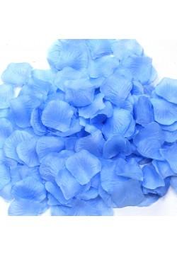 Лепестки роз (300шт) голубые