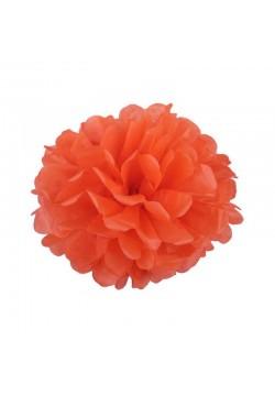 Помпон бумажный 20см оранжевый