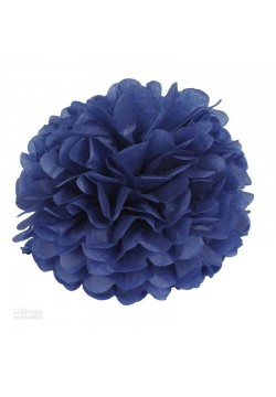 Помпон бумажный 30см синий