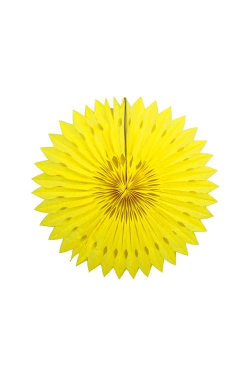 Фант бумажный резной 25см жёлтый