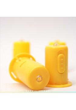 Светодиод 4см для бумажных фонариков (жёлтый свет свечи)