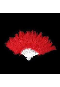 Веер перьевой (красный) 40*25см