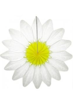 """Фант бумажный """"Цветок"""" 36см белый"""