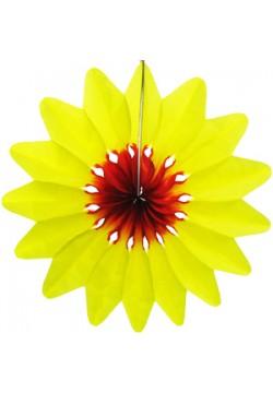 "Фант бумажный ""Цветок"" 36см жёлтый"