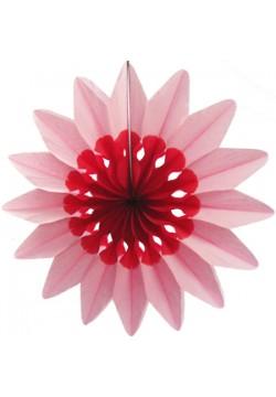"""Фант бумажный """"Цветок"""" 36см розовый"""