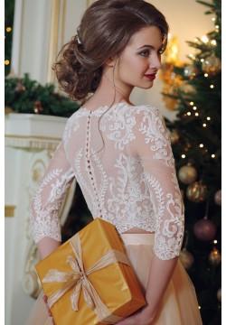 Свадебное платье Хлоя, шифон (кроп-топ и юбка)