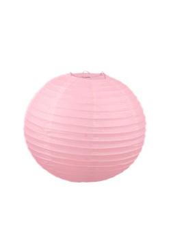 Фонарик бумажный 30*30см розовый светлый