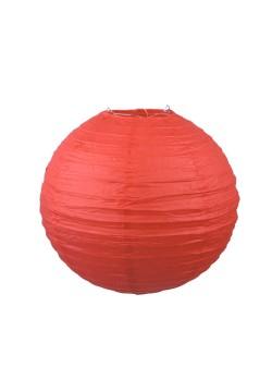 Фонарик бумажный 30*30см красный
