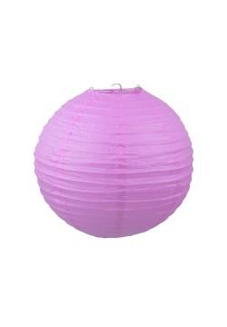 Фонарик бумажный 30*30см фиолетовый