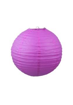 Фонарик бумажный 30*30см фиолетовый тёмный