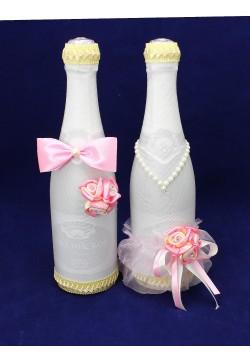 Костюмы на шампанское ЖиН (стрейч) крем-розовый