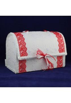 Сундук для денег «Сундучок» (бело-красный)