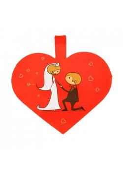 Гирлянда объёмная с подвесками Пара в сердце 2м (бумага)