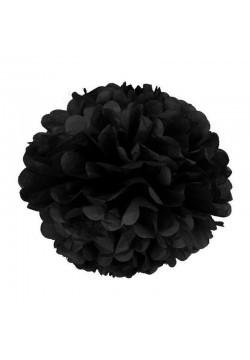 Помпон бумажный 25см чёрный
